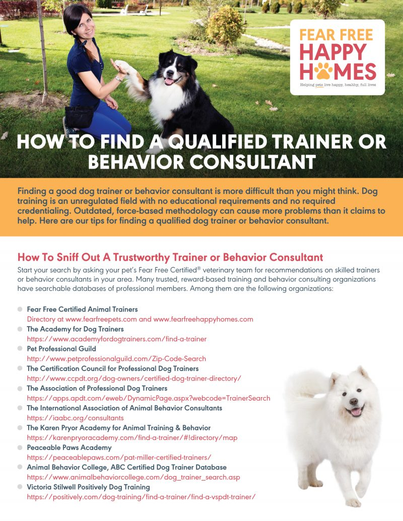 Find A Qualified Trainer Handout