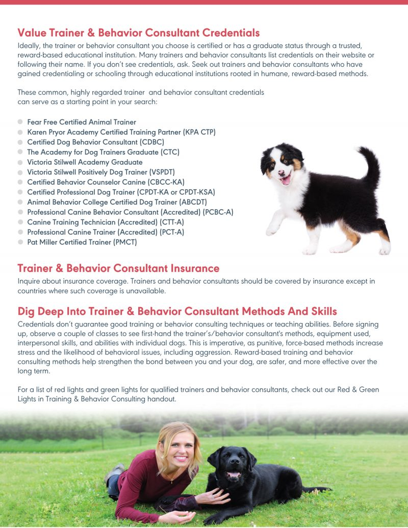 Find A Qualified Trainer Handout